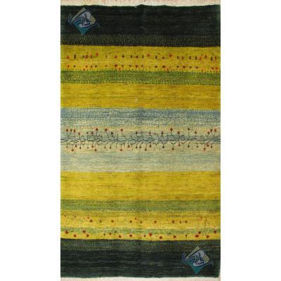 پرده ای دستباف گبه قشقایی طرح ذوالانواری رنگ گیاهی