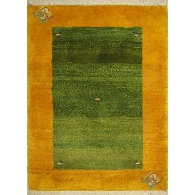 ذرع و چهارک دستباف گبه شیرازی تمام پشم رنگ گیاهی