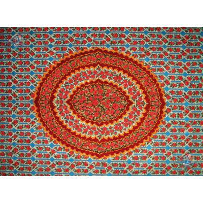 مربع دو و نیم در دو ونیم متر دستباف تمام ابریشم قم تولیدی حیات بخش