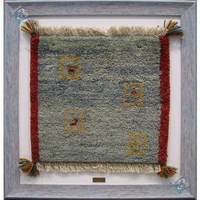 Mat Gabeh Carpet Handmade Four Badges Design All Wool