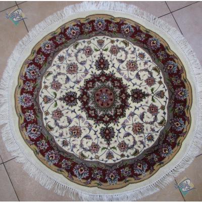 دایره قطر یک متر تیریز طرح تقی زاده گل ابریشم