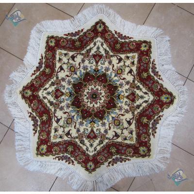 ستاره هشت پر دستباف تبریز قطر یک متر گل ابریشم