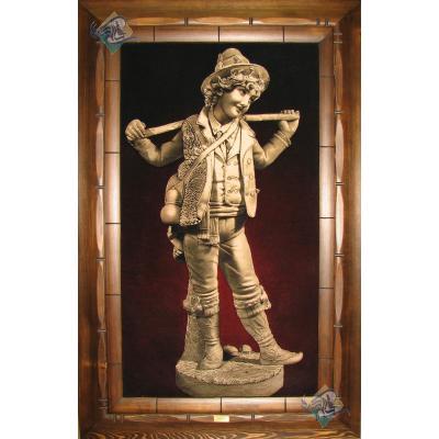 Tabriz Tableau Carpet Statue Boy