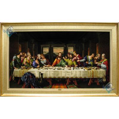 Tableau Carpet Handwoven Tabriz The Last Supper Design
