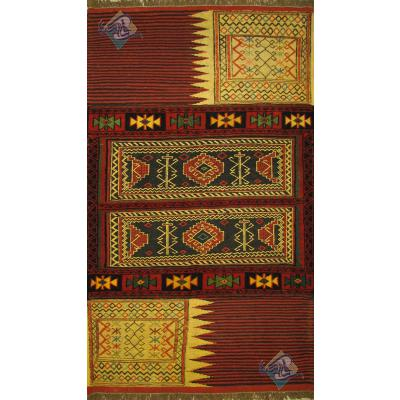 قالیچه سوزنی فرش قوچان نقشه خورجین تمام پشم