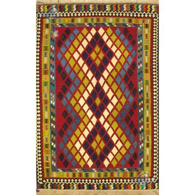 گلیم دستباف قشقایی شیراز رنگ گیاهی تمام پشم