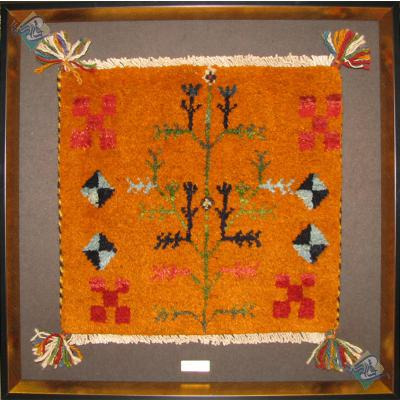 Tableau Carpet Handwoven Shiraz Gabeh Geometric Design